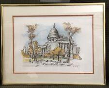 Vintage 1987 Marine Banks Office & Director Framed Fine Art Gift Series Madison