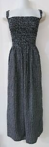 1K62038  LADIES MAXI SHIRRED SUMMER DRESS plus size 32 34  36  38  NEW WITH TAGS