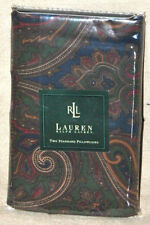 RARE Vintage Ralph Lauren Brianna Paisley Standard Pillowcases PAIR UNUSED