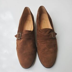 Polo Ralph Lauren Womens Belted Suede Made in Italy Shoes Size 9