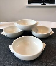 Olympia Whiteware Ivory Porcelain Soup Bowls For Four