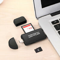 3 in 1 USB 2.0 Type C / USB / Micro USB SD TF Memory OTG Card Reader for Android