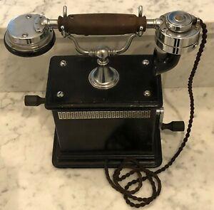 Altes Kurbeltelefon OB 05 aus der deutschen Kaiserzeit in Top-Zustand!