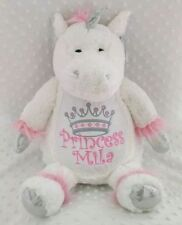Personalised Unicorn Teddy Bear. New Baby/Birthday/Christening keepsake gift.