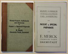 Merck Rezept- Formeln der Patent- & Spezialpräperate um 1930 Wissen Medizin xy