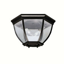 Kichler 9886 Black 2-Light Outdoor Ceiling Fixture