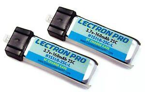 Lectron Pro 2 Packs 3.7 volt 160mAh 15C LiPo Battery 1S160-25-L Blade mSR mSRX