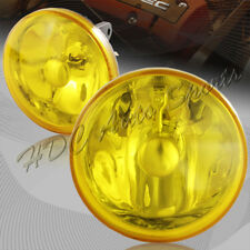 "4"" Round Chrome Housing Yellow Lens Fog Driving Light Lamps + Switch Universal 3"