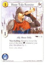 3 x House Tully Recruiter AGoT LCG 1.0 Game of Thrones Core set 21