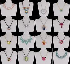 Ausdrucksstarke Modeschmuck-Halsketten & -Anhänger aus Legierung mit Strass