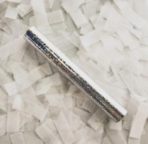 8inch Confetti sticks confetti wedding sticks Party Confetti Poppers - WHITE
