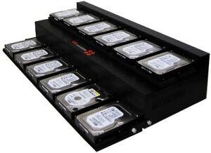 SySTOR Flatbed 1-11 SATA 300MB/sec Multi HDD/SSD Hard Drive Duplicator Copier