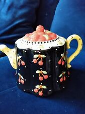 """Mary Engelbreit """"Very Cherry"""" Collectable Teapot Michel Inc. 2001"""