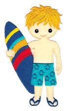 ak62 Surfer Wellenreiter Sport Surfbrett Aufnäher Bügelbild Patch 5,8 x 10,3 cm
