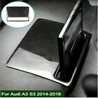 1pc Sticker For Audi A3 S3 Carbon Fiber Center Dashboard Lcd Display Cover Trim
