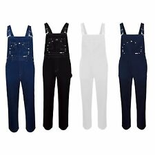 NEW Men Denim Overalls Jeans Sizes S-XL Carpenter Multi-Pocket Chest Jean