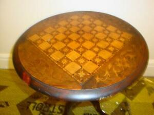 SUPERB RARE ANTIQUE GEORGIAN VICTORIAN TUNBRIDGE WARE TILT TOP TABLE CHESS BOARD