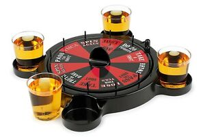 New Russian Roulette Drinking Set Game Casino Spin Adult Party Spinner Fun