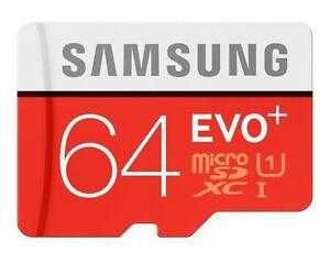 Samsung Evo Plus 64GB Micro SD SDXC Memory Card 80MB/s Class 10 UHS-I in Sydney
