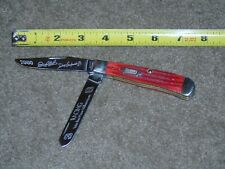CASE XX Dale Earnhardt Sr. & Jr. 2000 Collectors Racing Into Trapper Knife RED