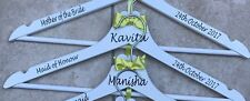 Personalised Wedding Hanger Decal Vinyl Sticker Bride Bridesmaid DIY