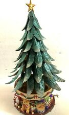 PartyLite 2003 Glowing Tree Christmas Tree Music Box Tealight Candle Holder