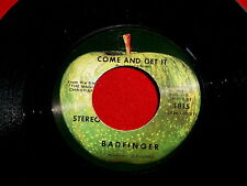 BADFINGER~COME AND GET IT~NEAR MINT~ROCK OF ALL AGES~APPLE 1815~~ POP 45