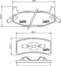 Mintex Rear Brake Pad Set MDB1765  - BRAND NEW - GENUINE - 5 YEAR WARRANTY