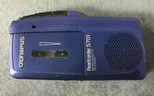 Blue Olympus Pearlcorder S701 Microcassette Recorder