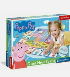 Peppa pig Interactive giant floor puzzle with pen 24 pieces Clementoni
