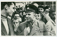 GAGARIN MEETING PEOPLE - AUTOGRAPHED PHOTO REPRINT, COA!