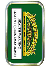Golden Virginia Warning 1oz Gold Empty Tobacoo Tin,Pill Tin,Baccy Tin,Pocket Tin