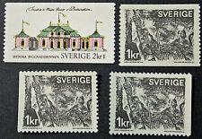 Timbre SUÈDE / Stamp SWEDEN Yvert et Tellier n°662 à 664 et 664b (cyn9)