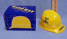 Avon Vintage After Shave Decanter Bottle Hard Hat Everest Yellow Glass
