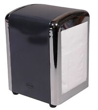 Retro 1950's American Diner Style Napkin/Serviette Tissue Dispenser Holder Grey