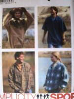 9226 UNCUT Simplicity SEWING Pattern Misses Mens Pullover Top Sport OOP Casual