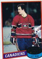 Bob Gainey 1980 Topps Autograph #58 Canadiens