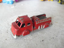 "Vintage Midgetoy Diecast Red and Silver Fire Engine Truck 3 1/2"" Long"