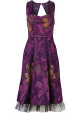 Damen Kleid mit Tüllsaum in lila Größe 36 NEU