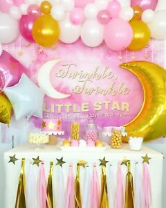 Twinkle, Twinkle Little Star Girl Baby Shower Party Decoration Supplies