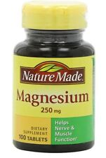 Nature Made Magnesium 250 mg Tablets 100 Tablets (Pack of 4)