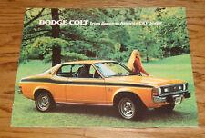 Original 1974 Dodge Colt Sales Brochure 74 GT Coupe Hardtop Sedan Wagon