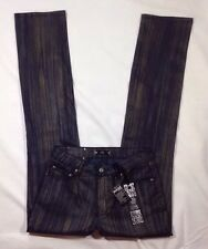 NWT Women's Tru Luxe Jeans Brush Strokes Straight Leg Metallic Denim Jeans-Sz 4