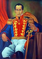 "JOSE GIL ""Simon Bolivar"" Great ORIGINAL OIL on CANVAS, ART PAINTING HAND SIGNED."