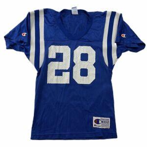 Marshall Faulk Indianapolis Colts NFL Jersey Champion Sz YOUTH MEDIUM Vintage