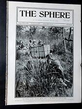 1912 The SPHERE- Great Durbar Delhi India Tiger Hunting Nepal,Eduardo Matania