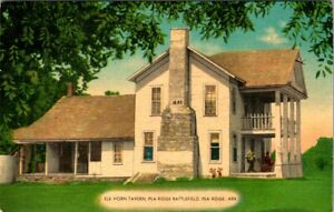 ARKANSAS - ELK HORN TAVERN - PEA RIDGE BATTLEFIELD - OLD 1952 POSTCARD