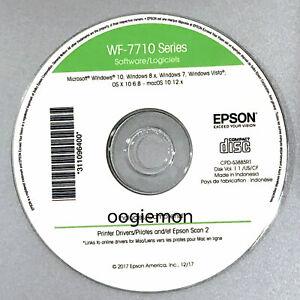Setup CD ROM for EPSON WorkForce WF-7710 Printer Software for Windows and macOS