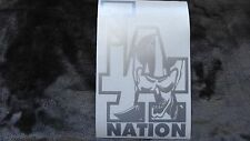 LA Raiders Nation car decal