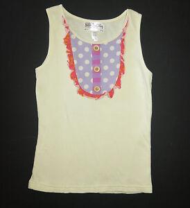 Matilda Jane Good Hart heart cream pond hill cookie dot tank top shirt 12 10